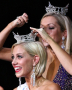 Ashlee Baracy, Miss Michigan 2008, crowns Nicole Blaszczyk, Miss Michigan 2009
